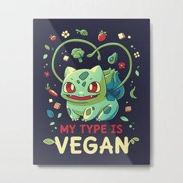 Vegan Type Metal Print