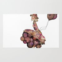 ballon Area & Throw Rugs featuring Le Ballon // Birthday II by annabours