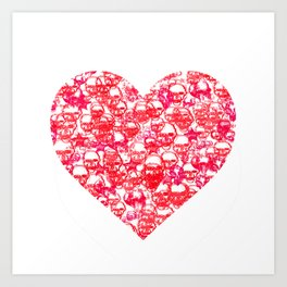Skull Heart Art Print