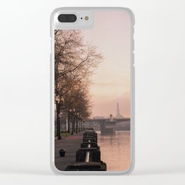 Willamette Riverfront, Portland, Oregon Clear iPhone Case