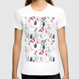Flamingo Pattern 3 T-shirt