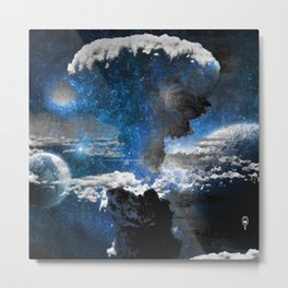 Nuclear Spaceout Metal Print