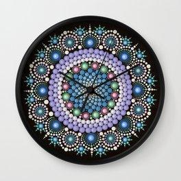 Dot Art Mandala Wall Clock