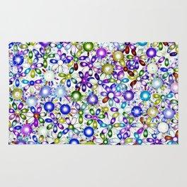 Vivid floral pattern 4181B Rug