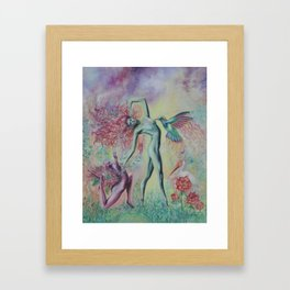 Garden Nymphs Framed Art Print