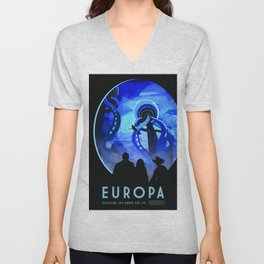 Vintage poster - Europa Unisex V-Neck