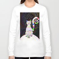 space cat Long Sleeve T-shirts featuring Space cat by ezgi karaata