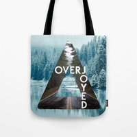 bastille Tote Bags featuring Bastille - Overjoyed by Thafrayer