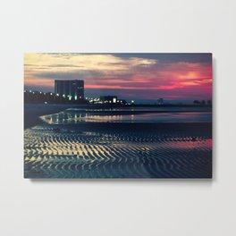 Low Tide Sunrise Metal Print