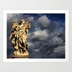 An Angel's Wrath Art Print