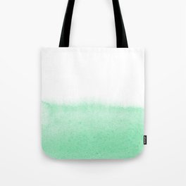 Mint watercolor Tote Bag