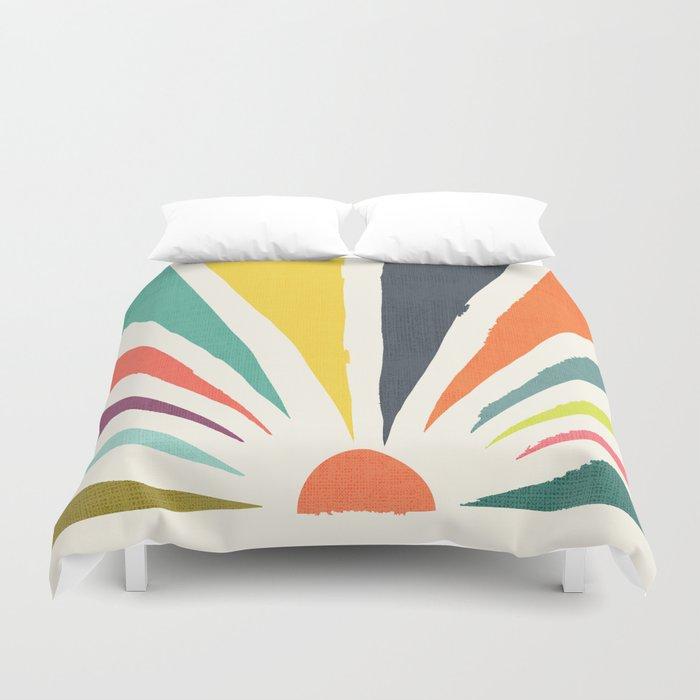 Rainbow ray Duvet Cover