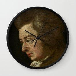 Wolfgang Amadeus Mozart (1756 -1791) by Joseph Lange Wall Clock
