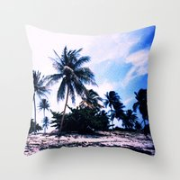 cuba Throw Pillows featuring Cuba by very giorgious