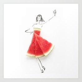 Edible Ensembles: Watermelon Art Print