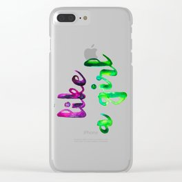 Like a Girl Clear iPhone Case