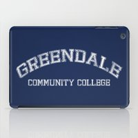 college iPad Cases featuring Greendale Community College by Skeleton Jack