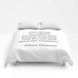 Albert Einstein QUOTE Comforters