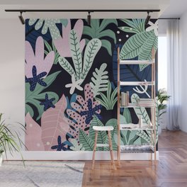 Into the jungle - midnight Wall Mural