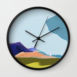 honfleur harbor - low clouds sky Wall Clock
