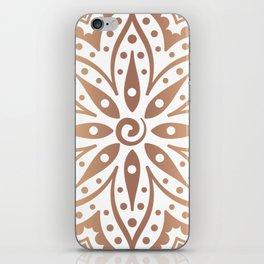 Dark copper tones mandala design iPhone Skin