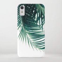 Palm Leaves Green Vibes #4 #tropical #decor #art #society6 iPhone Case
