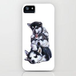 Malamute Puppies iPhone Case