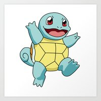 squirtle Art Prints featuring Squirtle by dada