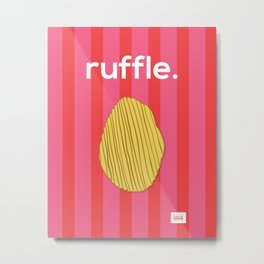 Ruffle Metal Print