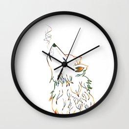 Lone wolf sketch Wall Clock