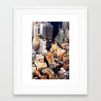 nyc Framed Art Prints featuring NYC by Vivienne Gucwa