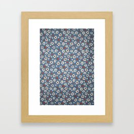 Floral Fabric Framed Art Print