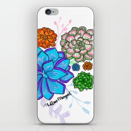 Saturated Succulents iPhone Skin