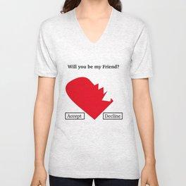 Friend Request Unisex V-Neck