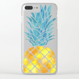 Three Pineapples Clear iPhone Case