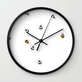Bees Playing  Wall Clock