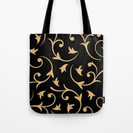 Baroque Design – Gold on Black Tote Bag