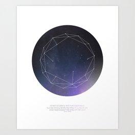 Light (Constellation) Art Print