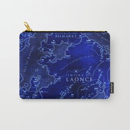 map blue Carry-All Pouch