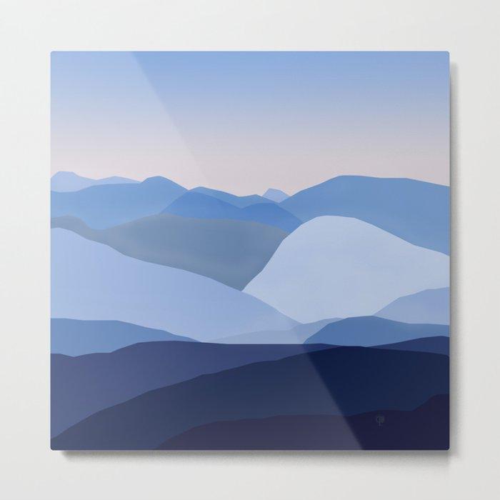 Blue C. Montains Metal Print
