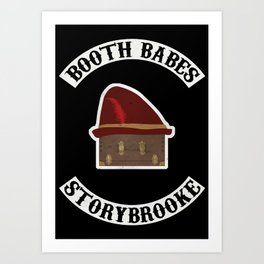 Booth Babes (Fake Motorcycle Club) Art Print