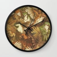 watch Wall Clocks featuring Red-Throated, Black-capped, Spotted, Barred by Teagan White