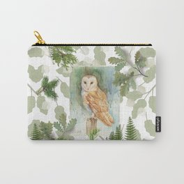 Barn Owl & Forest Plants Carry-All Pouch