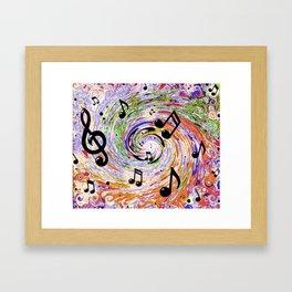 Music Notes Framed Art Print