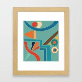 retro shapes Framed Art Print