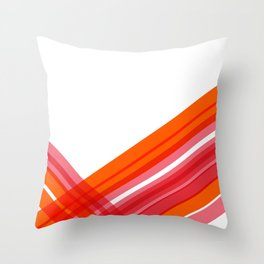 Tangerine Abstract Throw Pillow