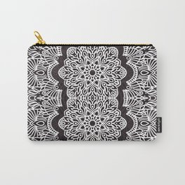 Proceed Mandala || Black and White || Linework Carry-All Pouch