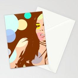 Pop girl Stationery Cards
