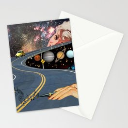 Composing on the Road. *Futuristic / Sci-Fi Surreal Digital Collage.* Stationery Cards