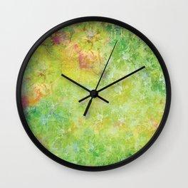 Garden Greens Wall Clock